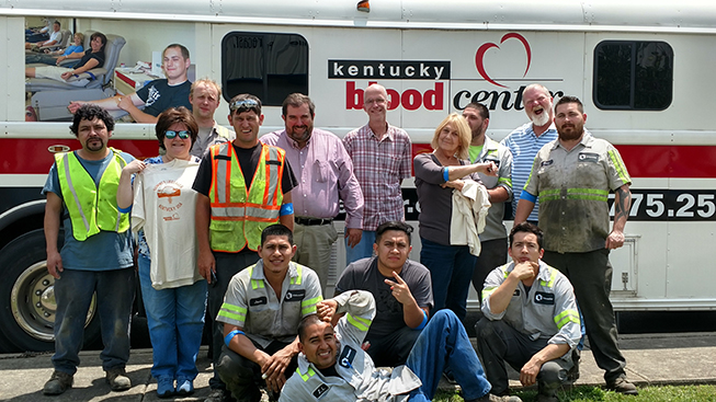 Oldcastle Infrastructure Lexington Participates in 2nd Annual Blood Drive