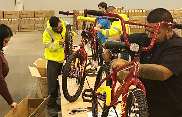 Oldcastle Enclosures Houston, Texas Builds Bicycles for Houston Area Students