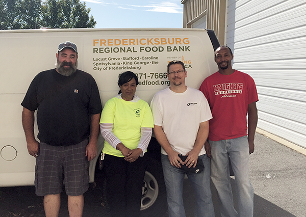 Oldcastle Infrastructure Employees Volunteer at the Fredericksburg Regional Food Bank