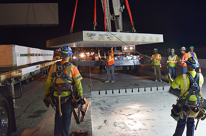 Precast Concrete Highway Slabs Expedite Largest Project of this Type in North America on I‐ 210 in California
