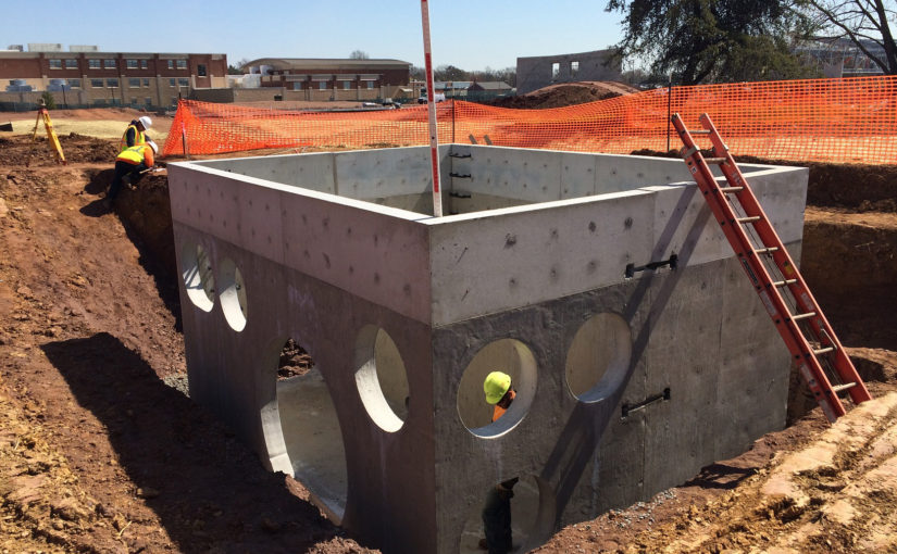 Precast Concrete Drainage Components Used for Phoenixville's New School Infrastructure Management System