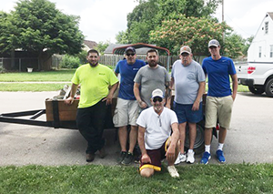 Lexington Employees Help Veteran in Need